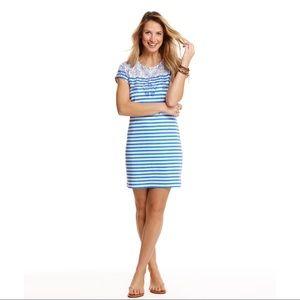 Vineyard Vines Striped Scarf Print Tee Dress Sz S